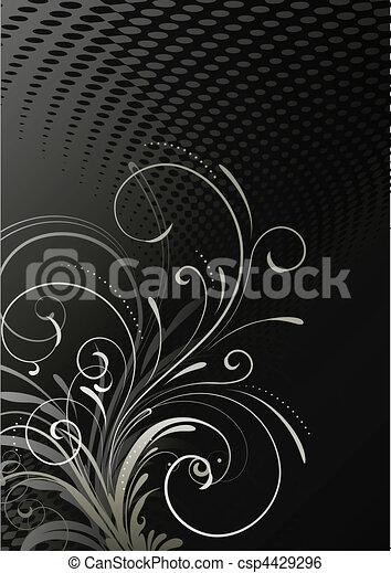 花, 装飾用である, 背景 - csp4429296