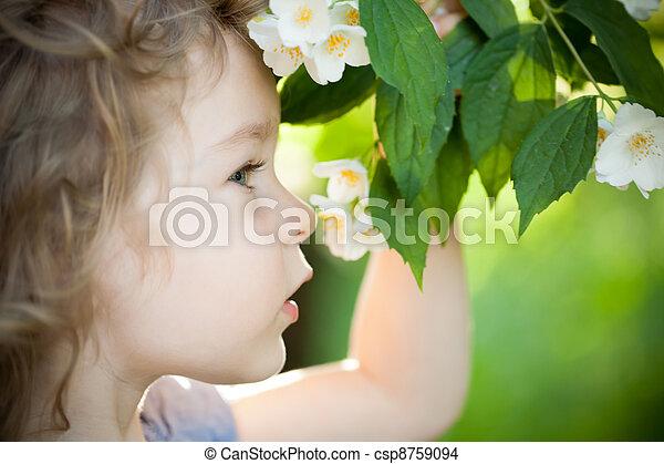 花, jasmin, 子供 - csp8759094