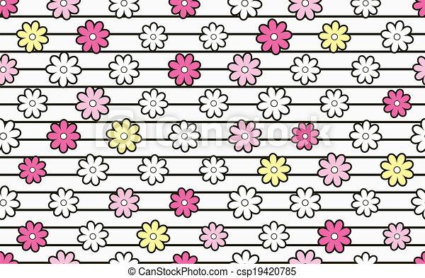 花, material. - csp19420785