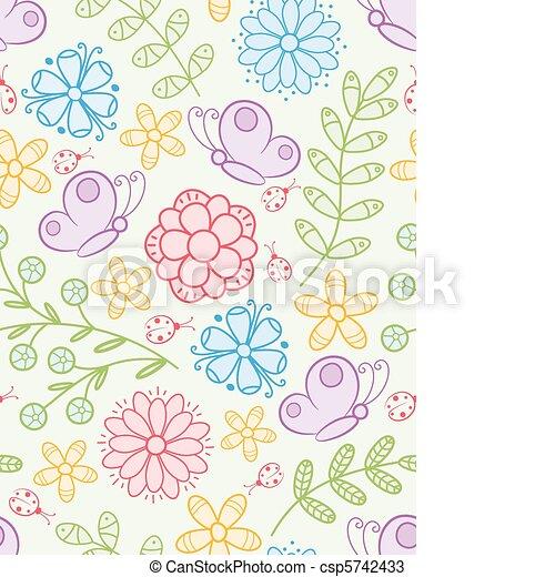花, pattern., seamless - csp5742433