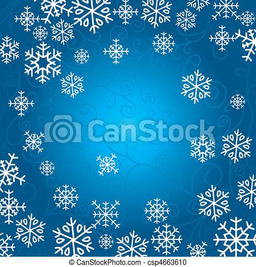 芸術的, カード, クリスマス - csp4663610