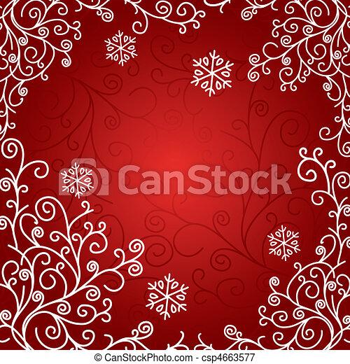 芸術的, カード, クリスマス - csp4663577
