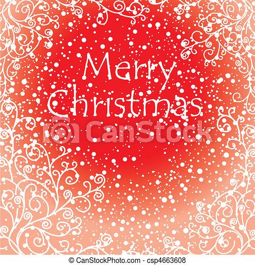 芸術的, カード, クリスマス - csp4663608