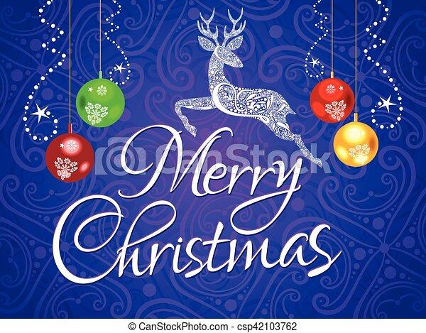 芸術的, クリスマス, 背景, 抽象的 - csp42103762