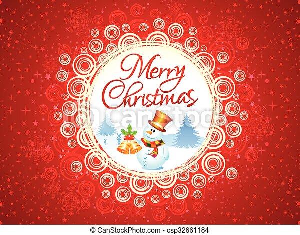 芸術的, クリスマス, 背景, 抽象的 - csp32661184