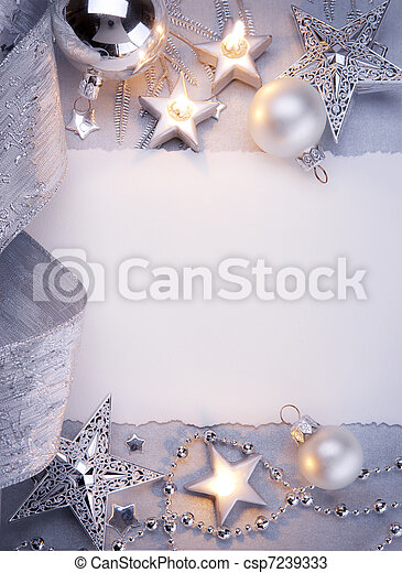 芸術, クリスマスカード, 挨拶 - csp7239333