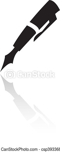 芸術, 線, 黒, ペン - csp3933682
