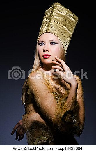 若い, モデル, 擬人化, 美しさ, エジプト人 - csp13433694