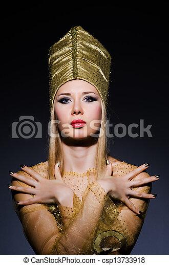 若い, モデル, 擬人化, 美しさ, エジプト人 - csp13733918