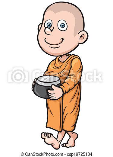 若い, 修道士 - csp19725134