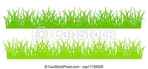 草, シルエット - csp11726525