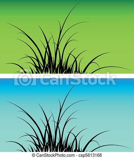 草, シルエット - csp5613168