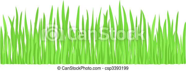草, 緑, (vector) - csp3393199