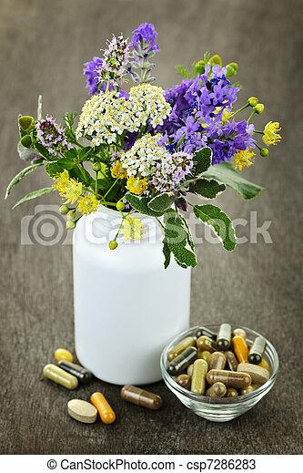 草 薬, 植物 - csp7286283