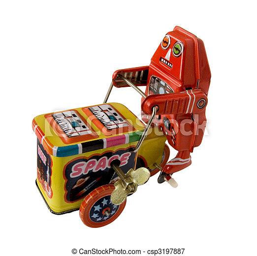 荷車引き, おもちゃ, 3, ロボット - csp3197887