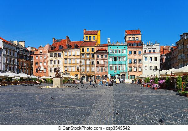 華沙, 波蘭, 廣場, 市場 - csp3543542