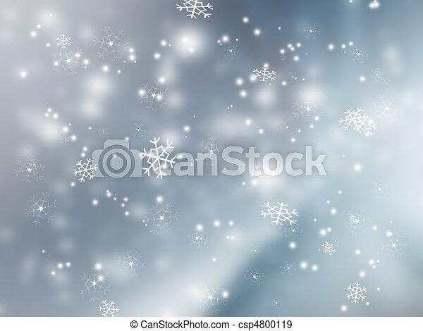 落ちる, 雪 - csp4800119