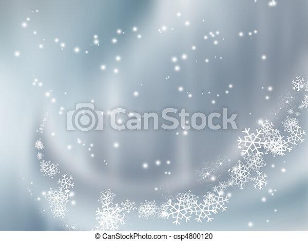 落ちる, 雪 - csp4800120