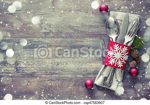 落下的表, 地方, 聖誕節 - csp47563607