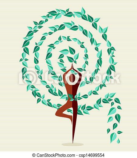 葉子, 印度, 瑜伽, 樹 - csp14699554