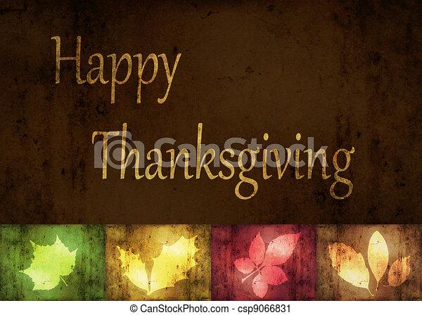葉, グランジ, 感謝祭, 幸せ - csp9066831