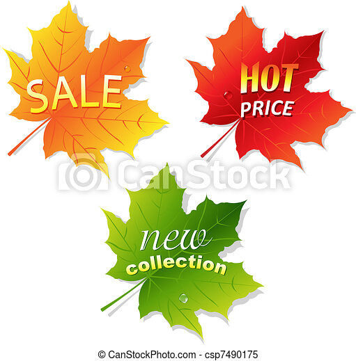 葉, セール, コレクション - csp7490175