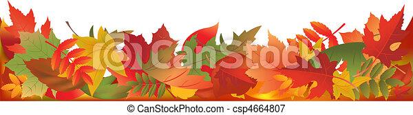 葉, パノラマ, 秋 - csp4664807