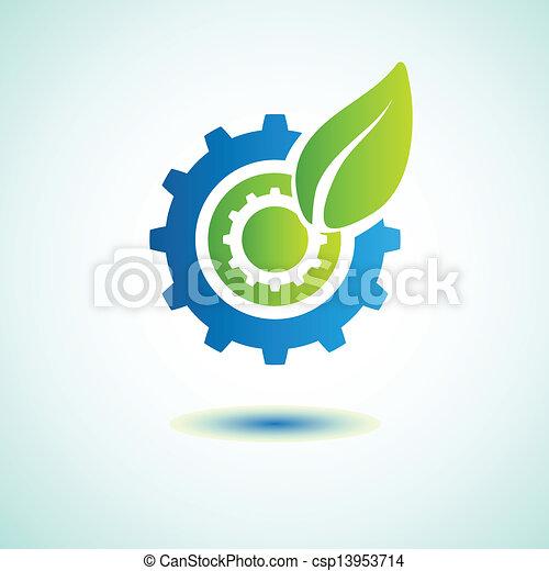 葉, 緑, ギヤ - csp13953714