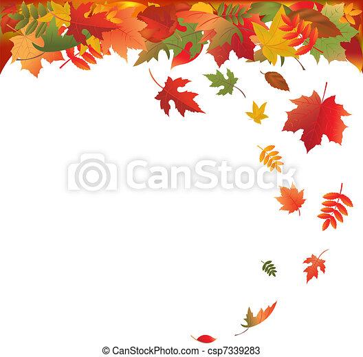 葉, 落ちる - csp7339283