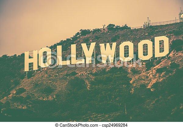 著名, 好萊塢, 小山 - csp24969284