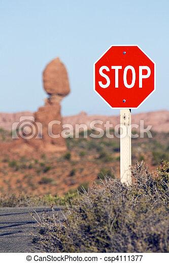 著名, stop!, 地方 - csp4111377