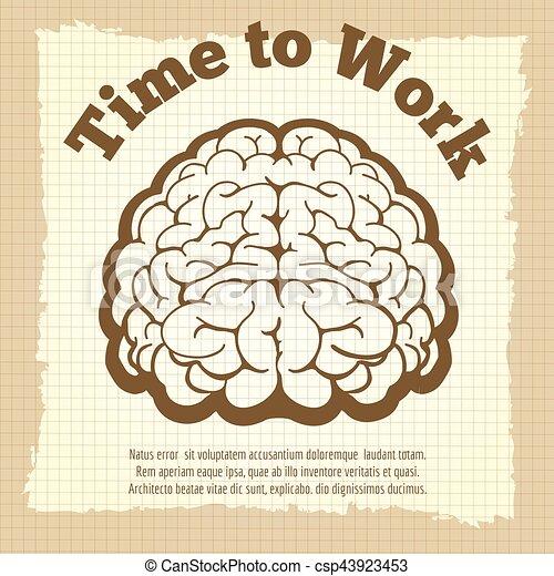 葡萄酒, 工作, 時間, 海報 - csp43923453