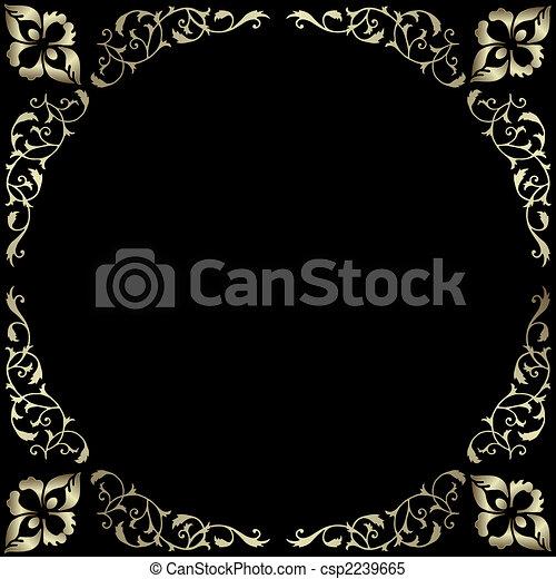 葡萄酒, 框架, 銀色 - csp2239665