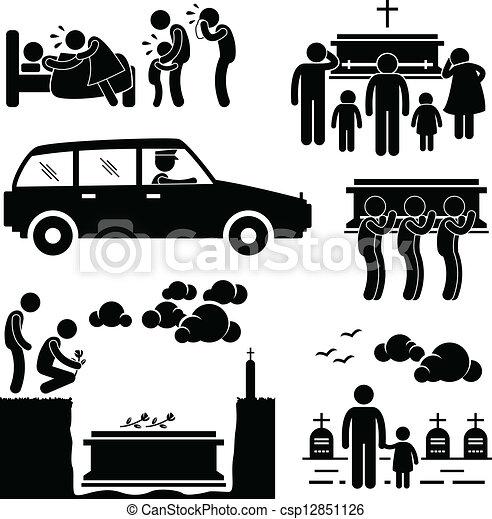 葬式, 式, 埋葬, pictogram - csp12851126