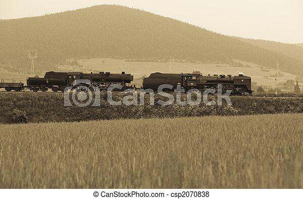 蒸気機関車 - csp2070838