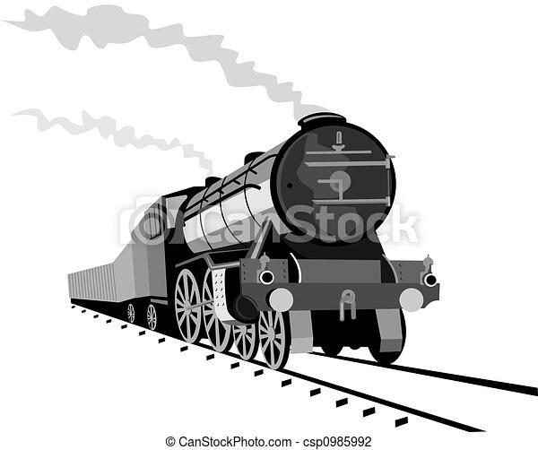 蒸気, 機関車 - csp0985992
