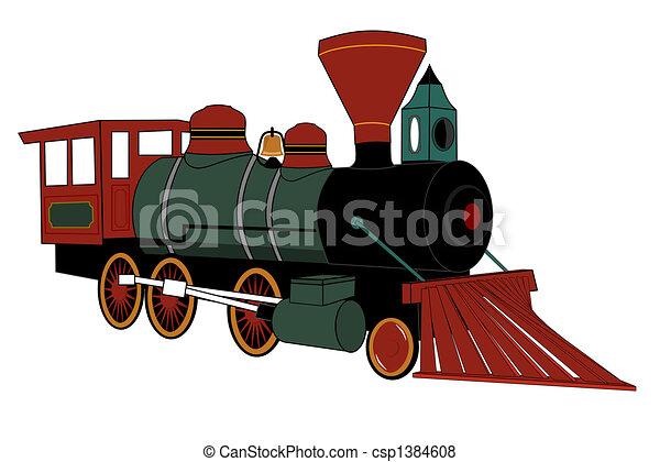 蒸気, 機関車 - csp1384608