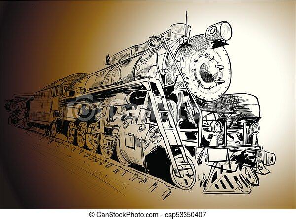 蒸気, 機関車 - csp53350407