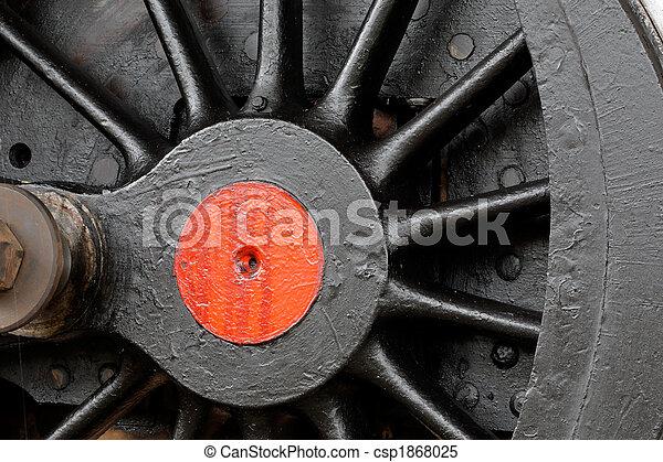 蒸気, 車輪, 機関車 - csp1868025