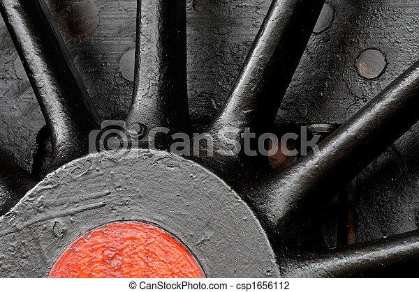 蒸気, 車輪, 機関車 - csp1656112