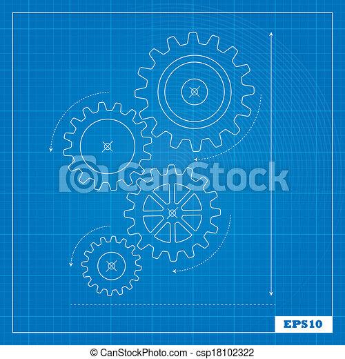 蓝图, cogs, 齿轮 - csp18102322