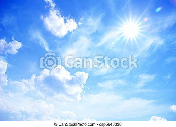蓝的天空 - csp5648838