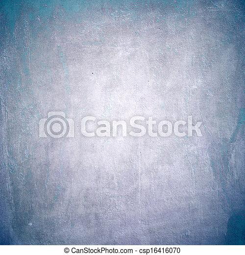 蓝色, 摘要, grunge, 背景 - csp16416070