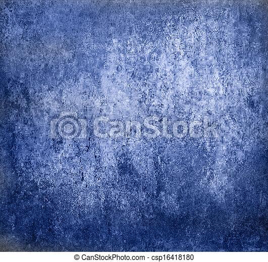 蓝色, 摘要, grunge, 背景 - csp16418180