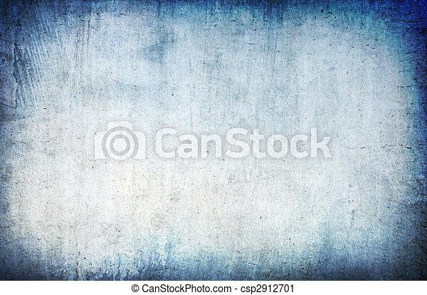 蓝色, 摘要, grunge, 背景 - csp2912701