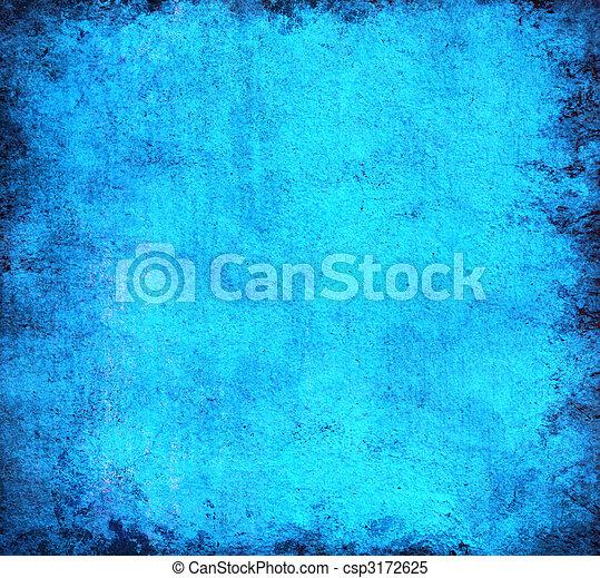 蓝色, 摘要, grunge, 背景 - csp3172625