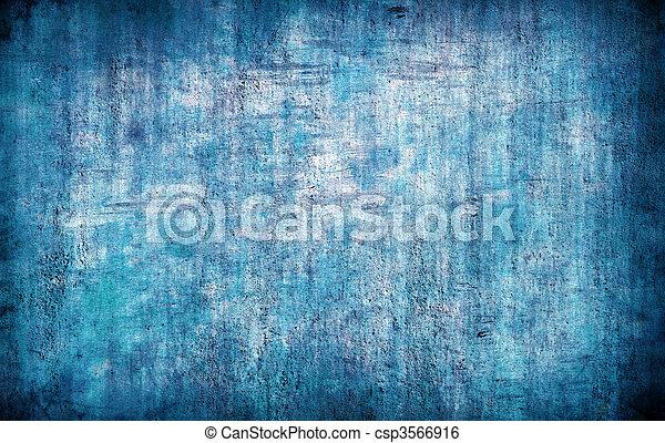 蓝色, 摘要, grunge, 背景 - csp3566916