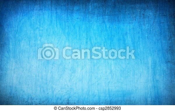蓝色, 摘要, grunge, 背景 - csp2852993