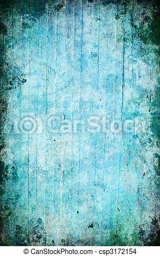 蓝色, 摘要, grunge, 背景 - csp3172154