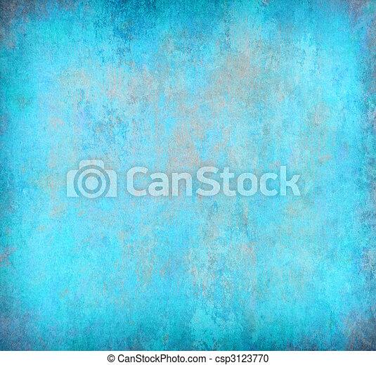 蓝色, 摘要, grunge, 背景 - csp3123770